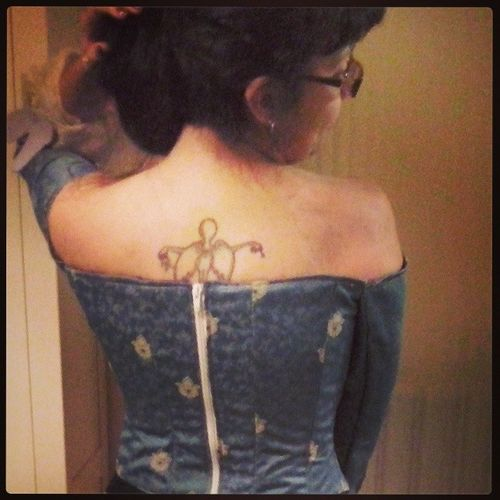 Daze in Wonderland Corset Baroque Girl Tattoo tattoed sigorros