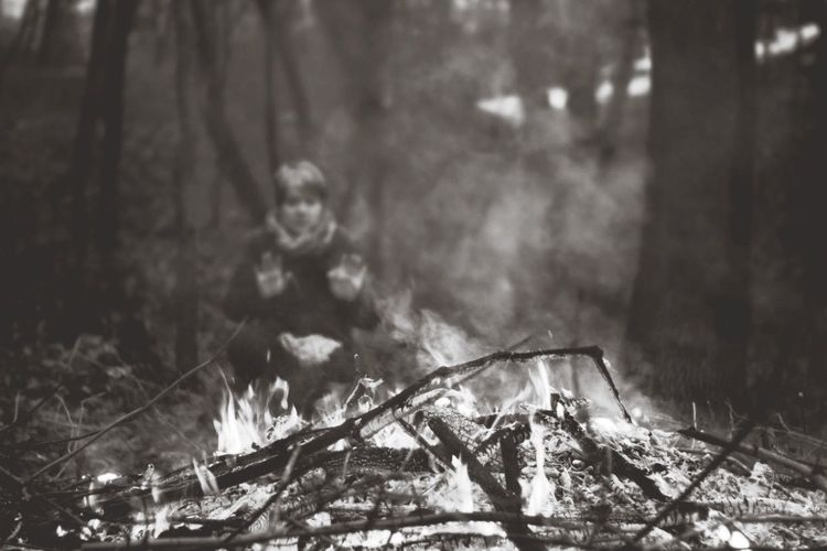Trip Trip Photo Blackandwhite Nature_collection Forest Fortheloveofblackandwhite Forestwalk Flame Procrastinating Fireplace