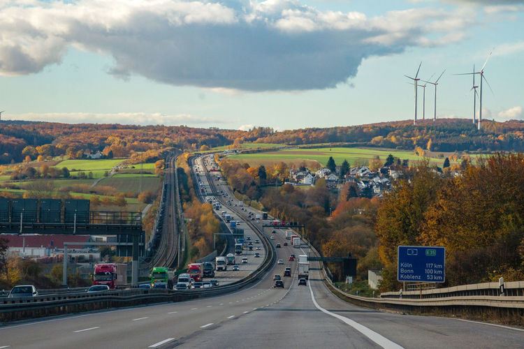 Dividing Line Multiple Lane Highway Outdoors Environment Connection Day Highway No People Marking Symbol Land Vehicle Mode Of Transportation Car Road Marking Motor Vehicle Nature The Way Forward Direction Sky Cloud - Sky Sign Road Transportation Germany 🇩🇪 Deutschland