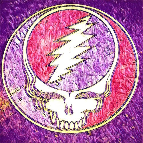 Grateful Dead Dead And Company Steal Your Face Grateful Dead Purple No People Close-up Indoors  Multi Colored Freshness Day