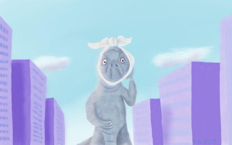 Godzilla has a problem 😁 Digital Composite No People Digital Eye Masters Digital Painting Digital Art MYArtwork❤ MyArt