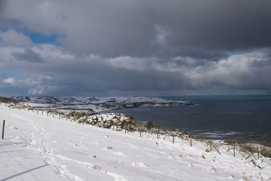 North Yorkshire WeatherFront Whiteout Winter Beast From The Easy Beauty In Nature Blizzard Cloud - Sky Cold Temperature Landscape Nature Outdoors Ravenscar Scenics Sea Seaside Sky Snow Tranquility Weather