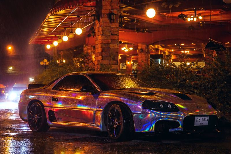 chromed car
