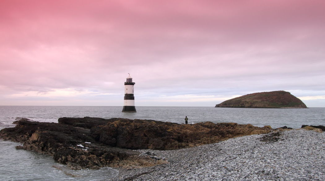 Anglesey Architecture Building Exterior Built Structure Direction Distant Guidance Horizon Over Water Lighthouse Outdoors Penmon Point Perspective Protection Safety Sea Security Sky Tower Vacation Voyage Showcase: January Pastel Power Landscapes With WhiteWall