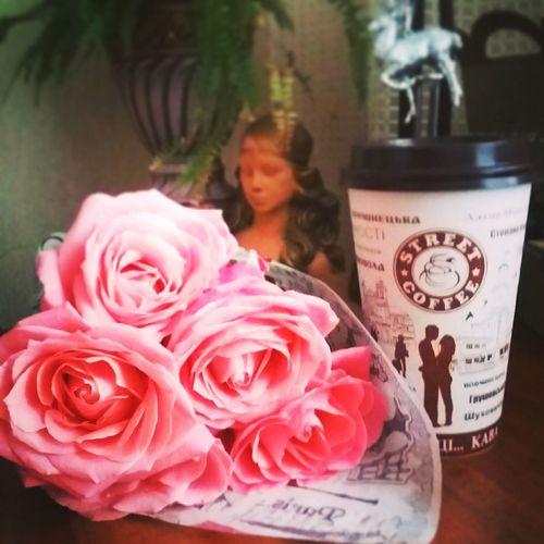 Rose 🌹🌹🍃 😻😻😻❤️ Ukraine Ivano-frankivsk Koffe Street Koffe 😊😄😍😍😻☕🍰🌹🍃🌷🍃