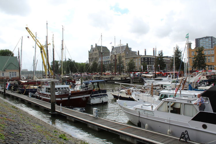 Harbor Maas Nautical Vessel Rotterdam Transportation Water Wereldhavendagen