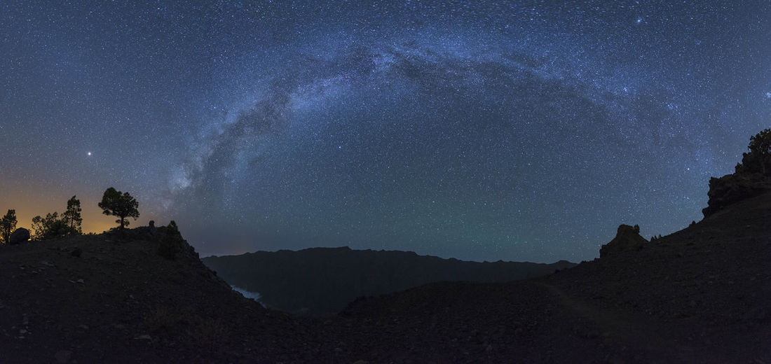 Canary Islands LaPalma Astronomy Beauty In Nature Galaxy Low Angle View Milky Way Mountain Night No People Outdoors Sky Space Star - Space