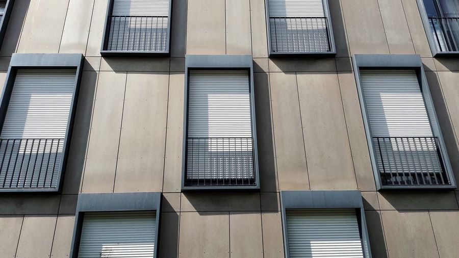 Windows (behind..) Architecture Metal Day Built Structure Steel Roller Shutters Facades Shadows & Lights Shadows Shadowplay Modern Architecture Outdoors Student Residence Konstanz No People Windows Sunshine Patterns Texture Geometric House Building Urban Planning Urban Public Housing The Week On EyeEm