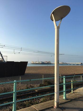 Brighton Pier Streetlamp No People Seaside