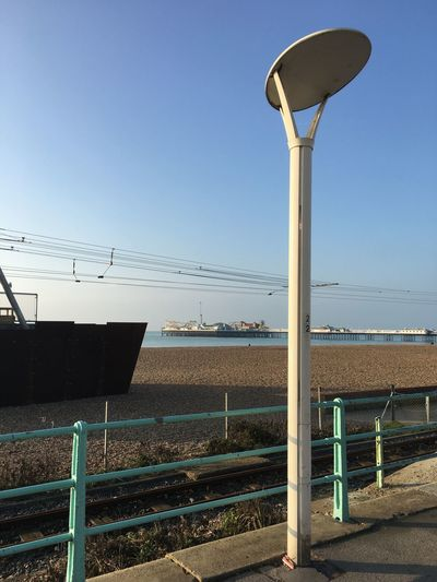 Brighton Pier Streetlamp No People Seaside