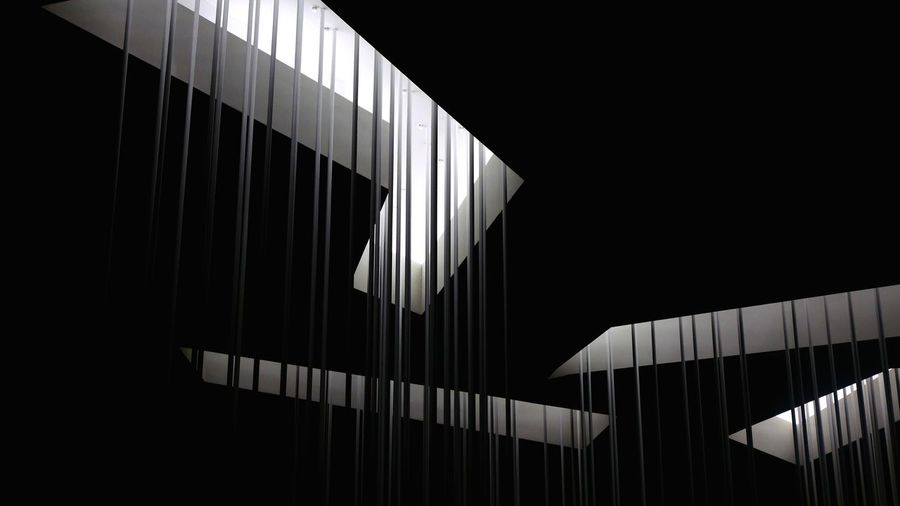 Light Architecture_collection Lookingup Light And Shadow Architectural Detail Architecture No People Built Structure Indoors  Night Low Angle View Sport Dark Building Illuminated Lighting Equipment