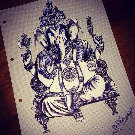 Drowning Pen Ganesh Black&Blanco