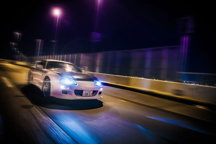 助手席に乗りたい。 Transportation Illuminated Mode Of Transportation Motion Speed Blurred Motion Land Vehicle Night on the move Car Road Motor Vehicle Street Lighting Equipment City No People Travel Long Exposure Light - Natural Phenomenon Architecture