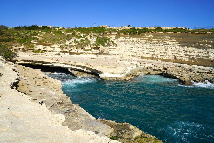 Beauty In Nature Rock Tranquility Rock - Object Nature Tranquil Scene Land Ea-malta Day Sea Water Scenics - Nature Sky Ras Il-Qali Il-Ħofra ż-Żgħira Marsaxlokk St Peters Pool Maltaphotography Malta St. Peter´s Pool