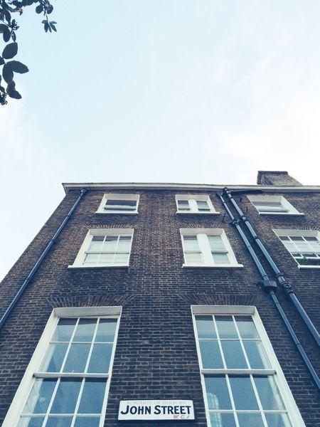 John Street Building Sky Urban Geometry Bleached