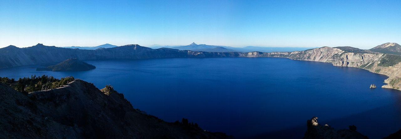 Panoramic View Of Crater Lake