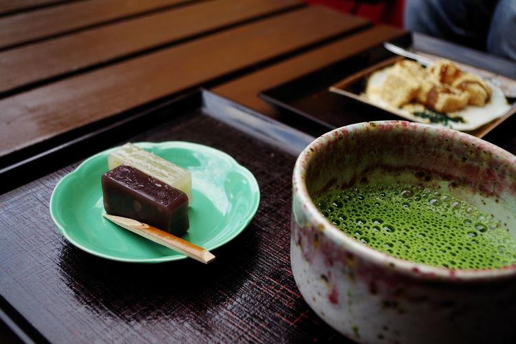 海苔羊羹(๑´ڡ`๑) Matcha Tea Food And Drink Green Color Indoors  Green Tea Freshness Tea Ceremony Ready-to-eat Food Close-up Drink Healthy Eating No People Day Japan Photography Japanese Food Enoshima