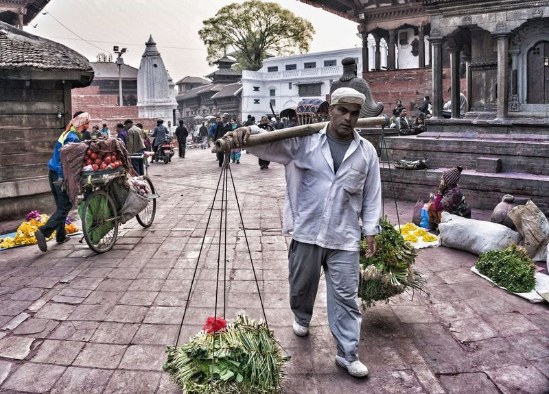 The Street Photographer - 2016 EyeEm Awards Temple Outdoors Street Kathmandu Streetphotography Nepalese Nepali  Nepal People Vegetables