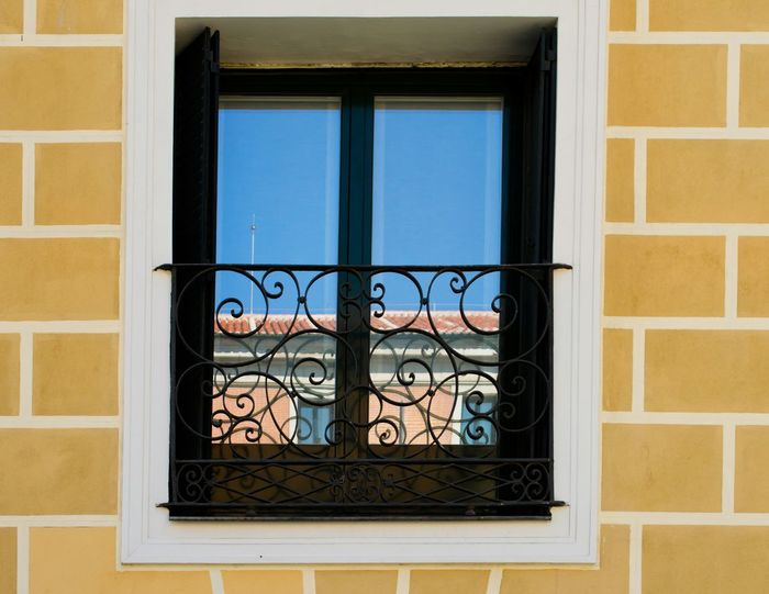 Window Reflection Blue Sky Geometric Architecture SPAIN Madrid Travel Photography Street Photography Cristal Clear Reflected Glory