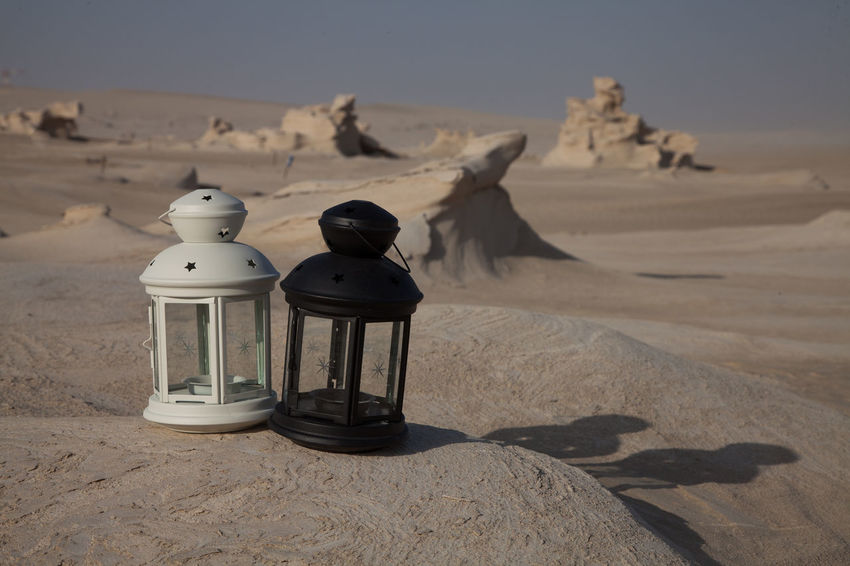 Arabic Lamps Arabic Lantern Arid Climate Beach Beauty In Nature Day Desert Lamp Landscape Lantern Nature No People Outdoors Sand Scenics Shadow Sky Sunlight Tranquil Scene