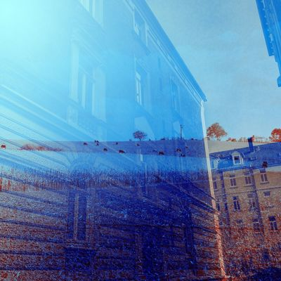 I love all the great old architecture from my new city but I do notice to miss the country side of my old home place. I miss feel free. EyeEm Gallery Braunschweig Brunswick Hildesheim Orange Duotone Landscape Double Exposure Building Exterior Architecture Built Structure Stories From The City No People Blue Low Angle View