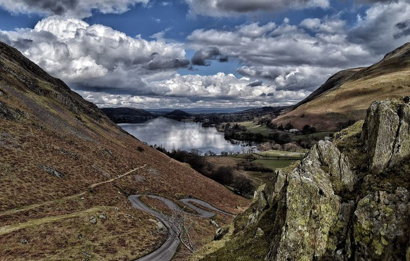 Looking down on Howtown and Ullswater Taking Photos Countryside Landscape Always Taking Photos Ullswater Clouds And Sky Reflection The Lake District  Malephotographerofthemonth EyeEm Nature Lover Tranquility Enjoying Life Rock Climbing