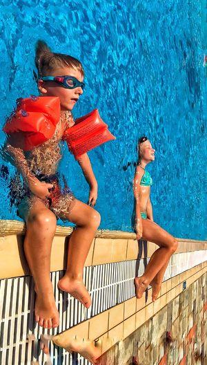 Swimming Pool Relaxation Swimwear Women Child Clothing Water Lifestyles Females