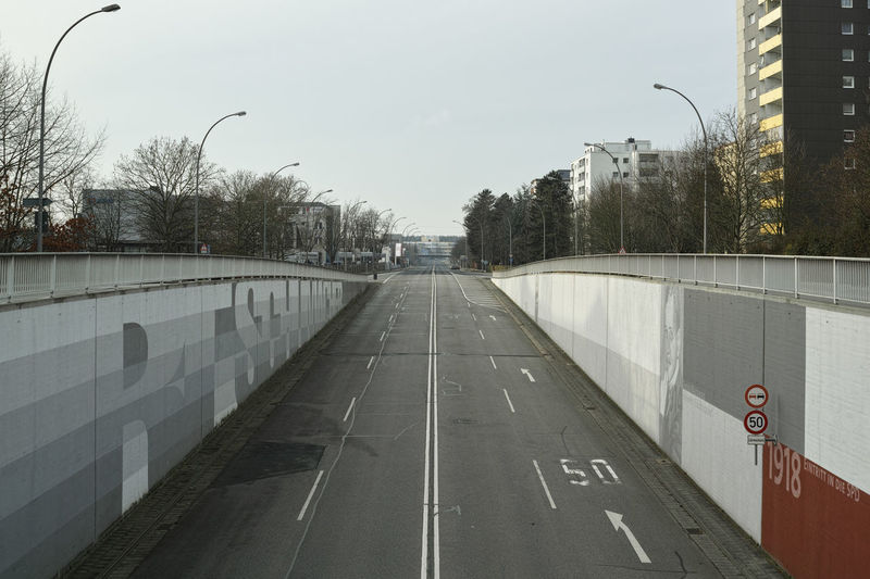 Belt Highway Architecture Belt Highway Building Built Structure City City Planning Diminishing Perspective Empty Kurt-Schumacher-Ring Man Made Structure Misplaning No People Outdoors Road Rüsselsheim Suburbia The Way Forward Tree Urban Vanishing Point