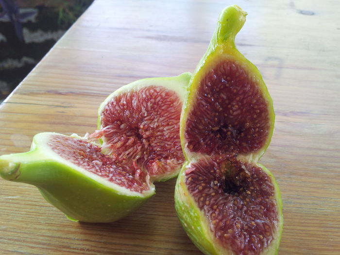 Figs ...Fruit Fig Colors Mediterranean  Nature Colors Of Mediterranean Freshness Greenandred Sweet First Eyeem Photo