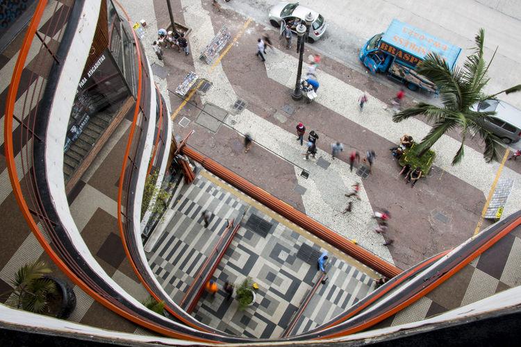 Architecture Curves Galeria Do Rock High Angle View São Paulo Urban Geometry The Graphic City