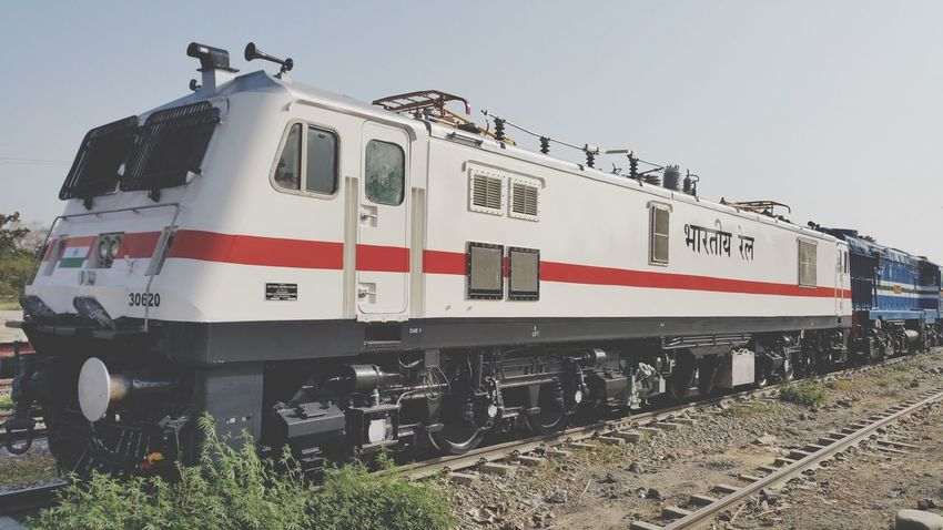 DLMW Patiala WAP7i Mode Of Transportation Transportation Rail Transportation Train Train - Vehicle Public Transportation Sky Railroad Track Track Clear Sky Outdoors Stationary Travel Land Vehicle Day Number No People