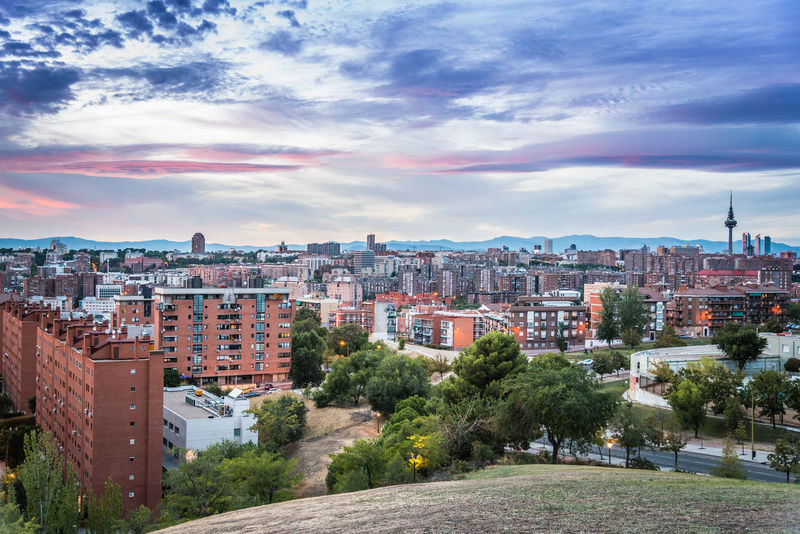 Cityscape of Madrid from the hills of Vallecas at sunset City City Cityscape Cityscape Cityscapes Development District Downtown District Hills Landscape Madrid Outdoors Residential District Scenic Scenics Sky Sky And Clouds Skyscraper SPAIN Sunset Sunset_collection Tower Travel Destinations Urban Urban Skyline