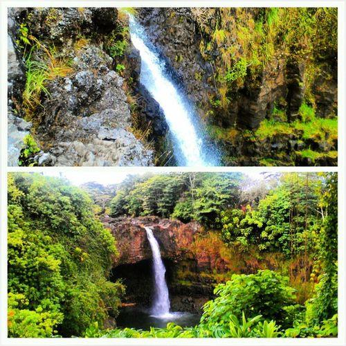 Above and below Rainbowfalls Hawaii Hawaiistagram Waterfall