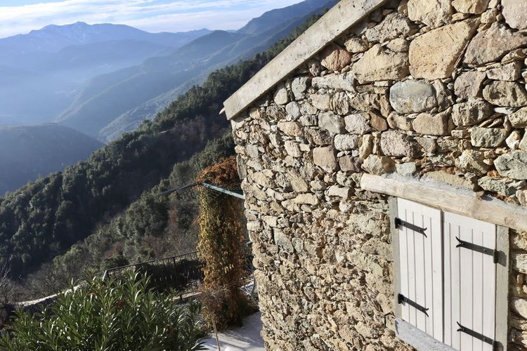 Aiti, Corsica Architecture Mountain Mountain Range No People Stone Built Stone Wall Wall - Building Feature