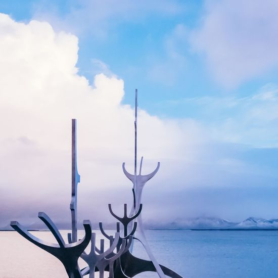Sun voyager Blue Waterfront Water Iceland Reykjavik Sunvoyager Sky Cloud - Sky Nature Outdoors No People Water Day Beauty In Nature Tranquility Scenics