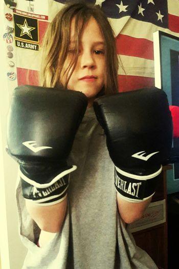 Daddy's Girl Tough Boxing Everlast America American Kid  American Girls TomBoy Moment (: Tomboy Taking Photos Cheese! Hello World