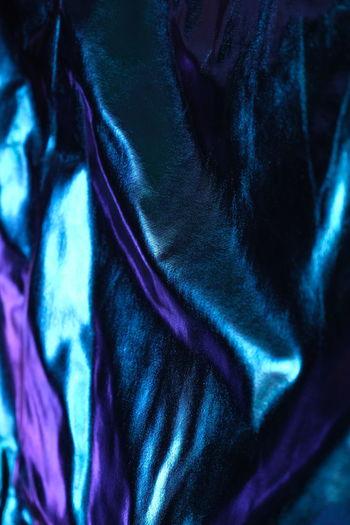 Full frame shot of blue bed