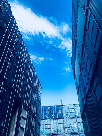 Building Exterior Built Structure Architecture Low Angle View Building Cloud - Sky No People Blue