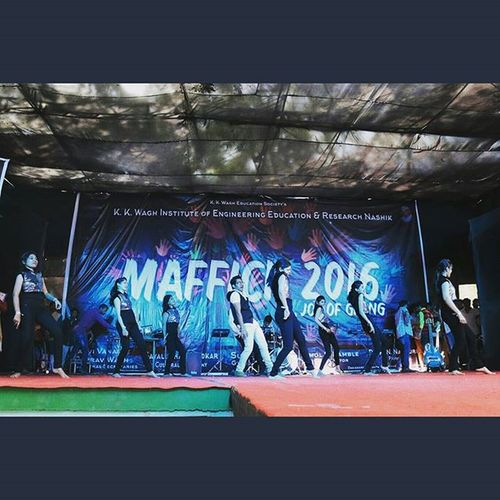 Finally... Performed at Maffick2k16 stage... Another Wish with my gang of idiots completed.. pic credits : @war_machine_68