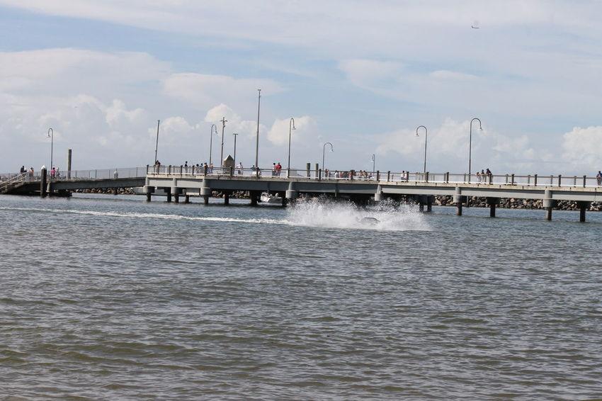 Australia Bridge - Man Made Structure Enjoywalks Great Atmosphere Jetski People Watching Redcliffe Jetty Redcliffeseaside Sunday Morning