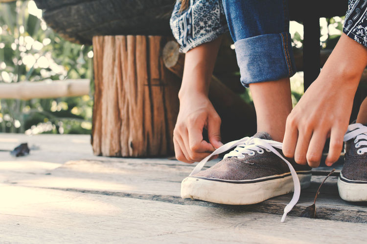 Childhood Close-up Human Leg Lifestyles Shoe Sitting