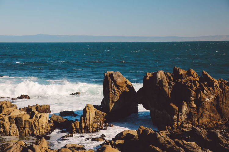 California El Matador Beach Beach Beauty In Nature Blue Clear Sky Day Horizon Over Water Nature No People Outdoors Rock - Object Rock Formation Scenics Sea Sky Tranquil Scene Tranquility Water Wave