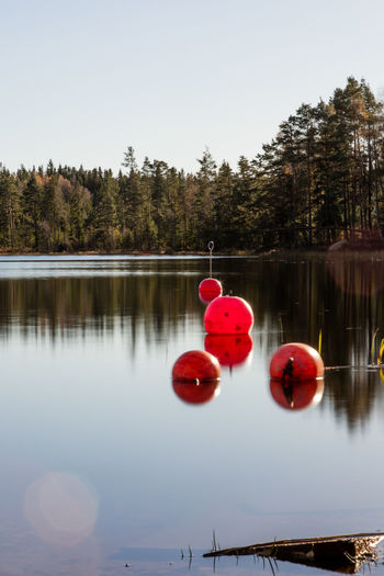 Autumn Beauty In Nature Bouy Clear Sky Day Lake Nature No People Outdoors Reflection Scenics Sky Sweden Tranquility Water