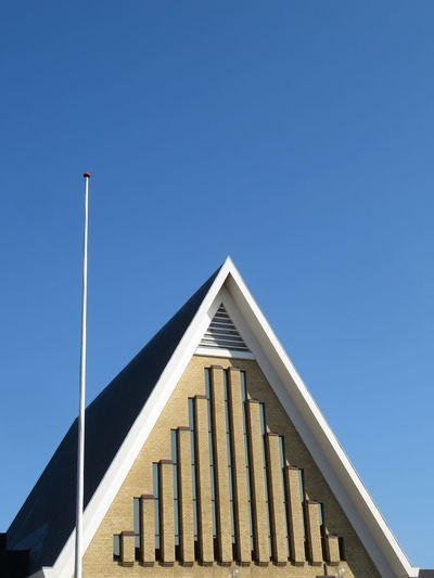 Church City Clear Sky Architectural Column Triangle Shape Sky Architecture Building Exterior Built Structure