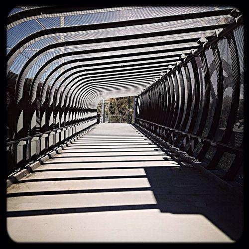 Pedestrian bridge in the inner west of Sydney Vanishing Point Walkway IPhone5