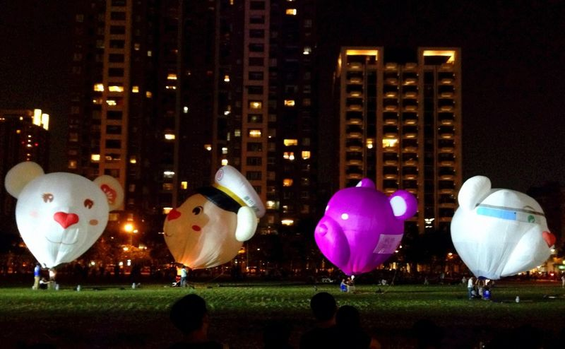 Tedybear Night Lights Hot Air Balloons