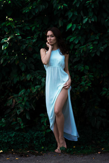 Barefoot Woman Posing