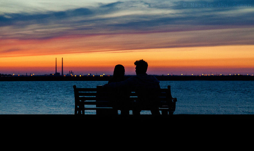 An evening with you Ireland Dublin Evening A Couple Silhouette Dusk Sunset Canon