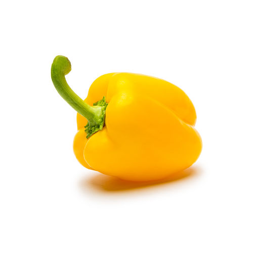 yellow pepper on white against white background Yellow Bell Pepper Yellow White Background White Wellbeing Vitamins Vegetarian Vegetable Studio Shot Still Life Stem Single Object Raw Food Raw Peppers Pepper Paprika Nutrition No People Lettuce Kitchen Isolated Indoors  Healthy Eating Healthy Freshness Fresh Food And Drink Food Eat Diet Cut Out Copy Space Cook  Close-up Bell Pepper Bell