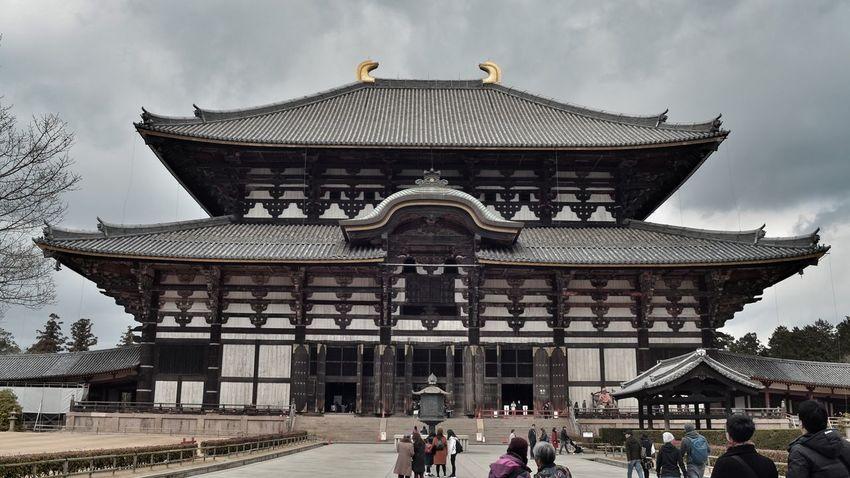 東大寺 大仏殿 Biggest Wooden Architecture Symmetry Architecture Architecture Exterior Man Made Object Nara Travel Photography From My Point Of View People And Places Japanese Temple Nara, Japan March 2017